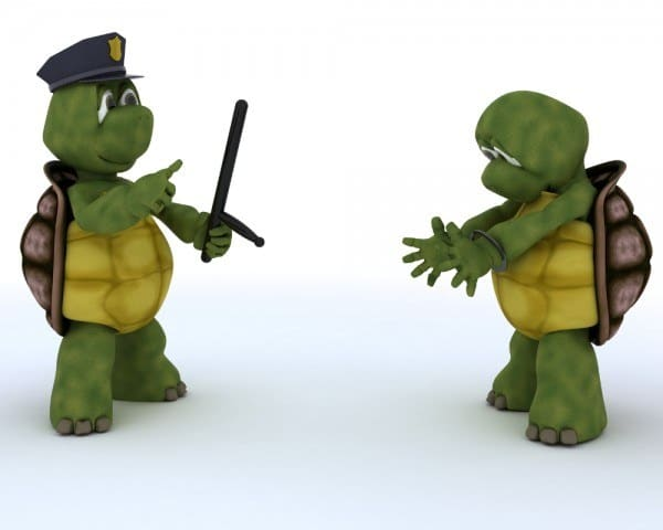 Cop and villain