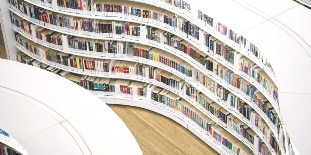 Hundreds of books on shelves