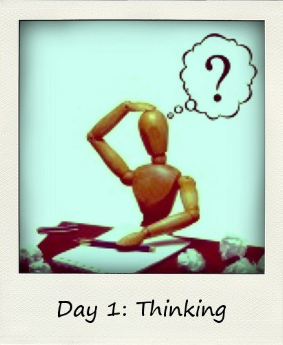 #BlogFlash2012 - Day One: Thinking