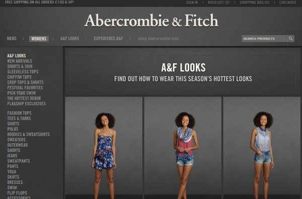 Abercrombie & Fitch UK site