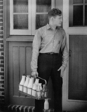 Man delivering milk