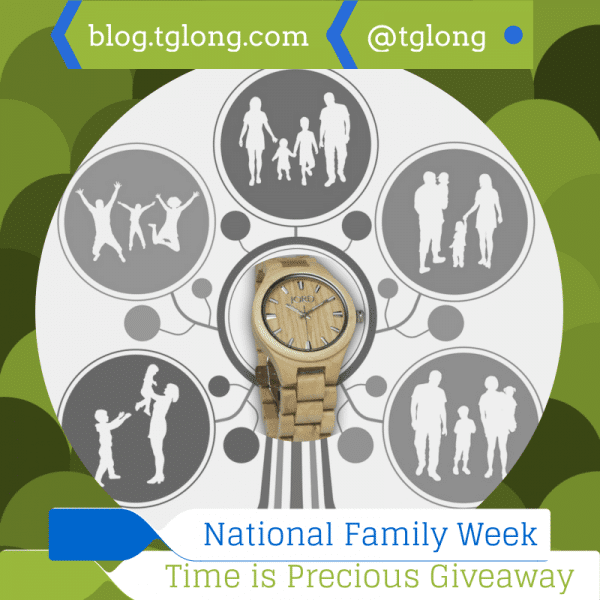 National Family Week: Time is Precious JORD Watch Giveaway