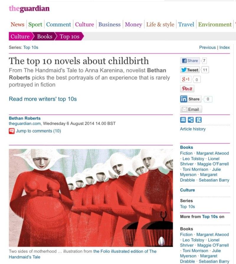Guardian Books: Childbirth novels
