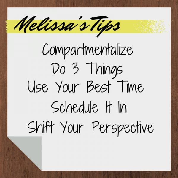 Melissa Corliss DeLorenzo: Tips