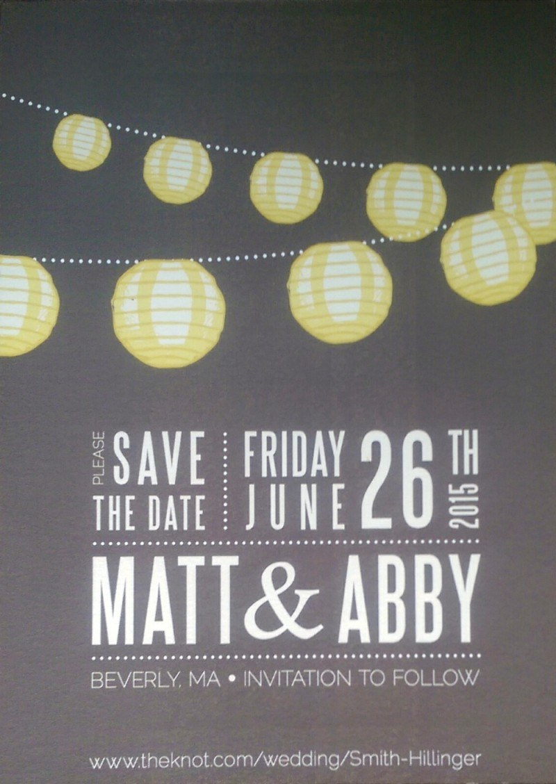 Save the Date: Abby and Matt