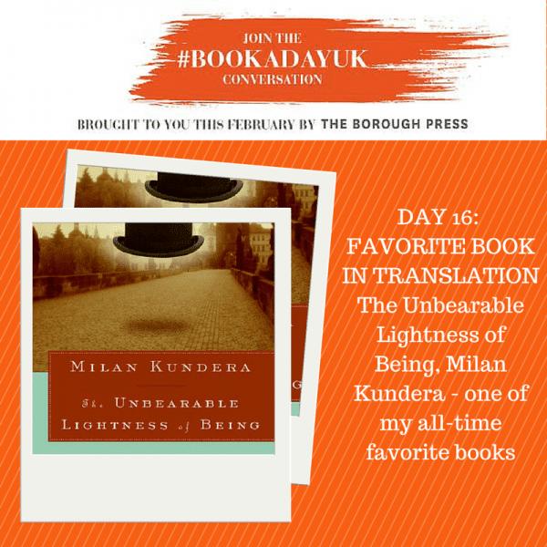 #bookadayuk: Day 16: The Unbearable Lightness of Being