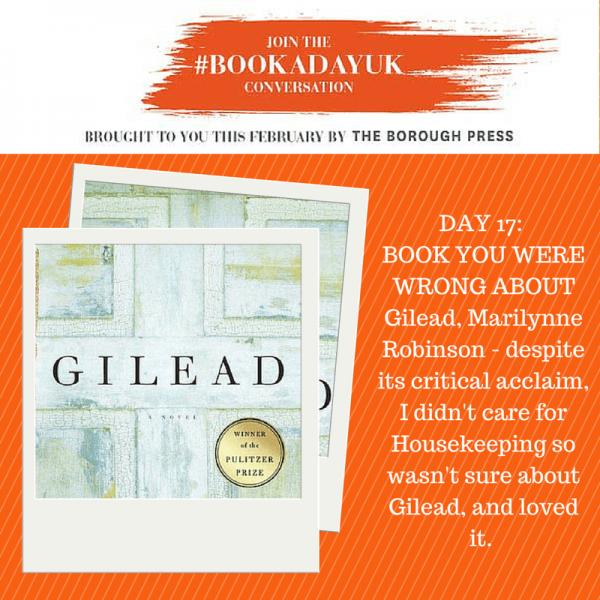 #bookadayuk: Day 17: Gilead