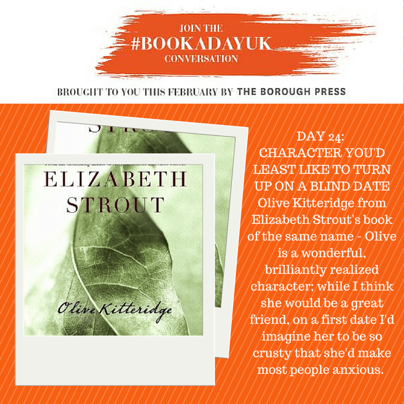 #bookadayuk: Day 24: Olive Kitteridge