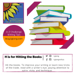 A to Z Challenge: H is for Hitting the Books