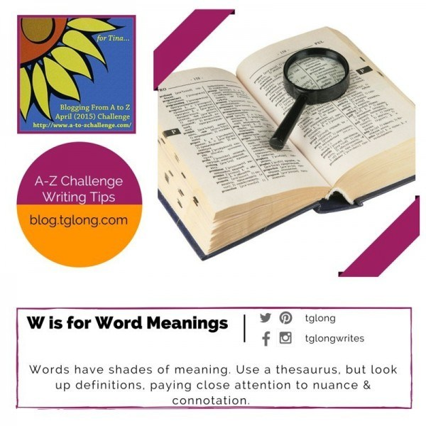 A-Z Challenge: W is for Word Meanings