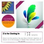 A-Z Challenge: Z is for Zoning In