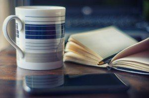 Mug and notebook