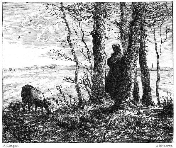 Falling of Leaves, Jean-François Millet
