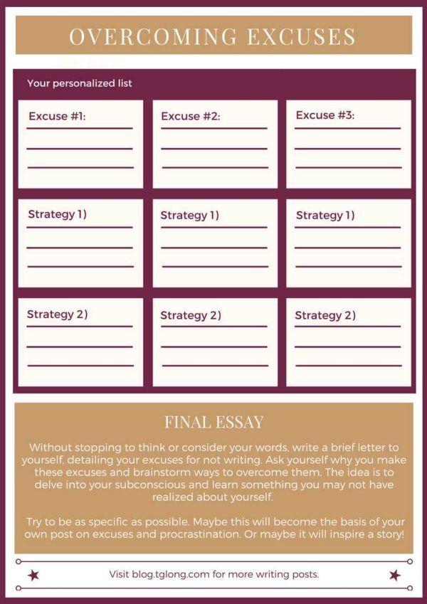 Overcoming Excuses Worksheet