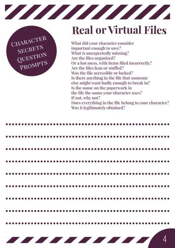 Characters' Secrets Workbook - Page 4