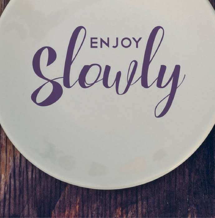 Holiday Health Tips - Bari Ramirez - Eat Slowly