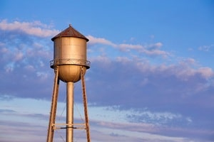Running Toward Wellbeing - Glimpsing the water tower
