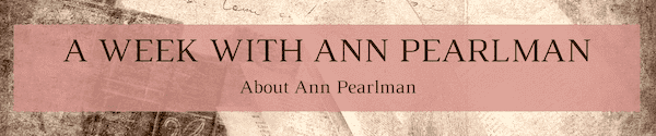 A Week with Ann Pearlman - About Ann Pearlman