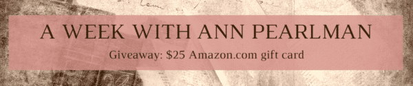 A Week with Ann Pearlman - Giveaway