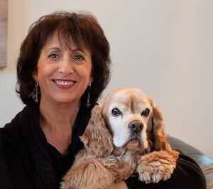 Mindy Pollack-Fusi with her cocker spaniel Gilligan